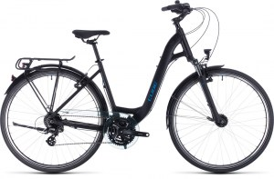 ΠΟΔΗΛΑΤΟ CUBE TOURING EASY ENTRY BLACK N BLUE 28 2020 DRIMALASBIKES