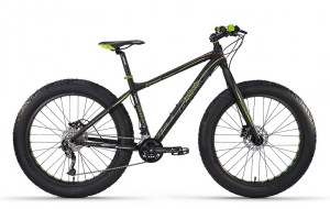 ΠΟΔΗΛΑΤΟ Lombardo Ivrea 26 Fat Bike Black-Green Mat DRIMALASBIKES