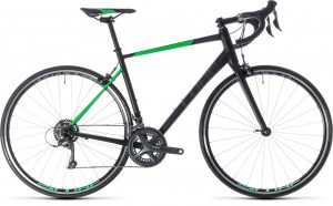 ΠΟΔΗΛΑΤΟ CUBE ATTAIN BLACK N FLASHGREEN 2018 DRIMALASBIKES